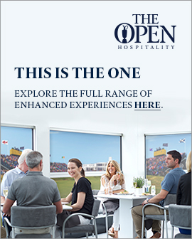 Don't be left in the rough, enjoy official hospitality at the open